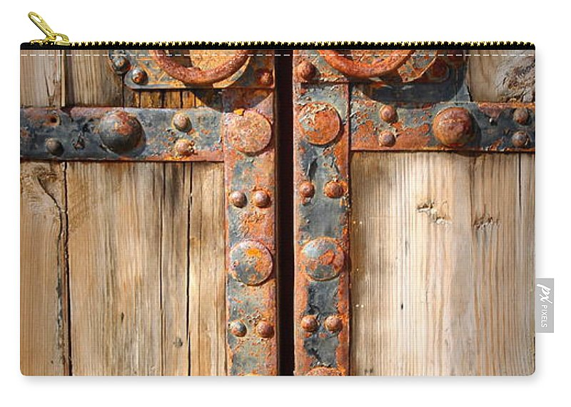 Door Carry-all Pouch featuring the photograph Door To Ancient Secrets by Donna Lehman