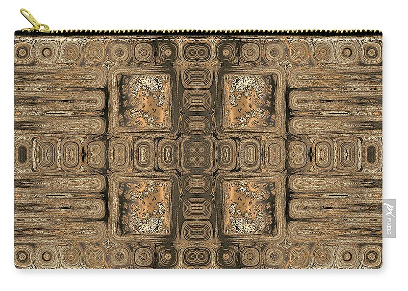 Geometric Carry-all Pouch featuring the digital art Doors Of Zanzibar Allspice by Judi Suni Hall