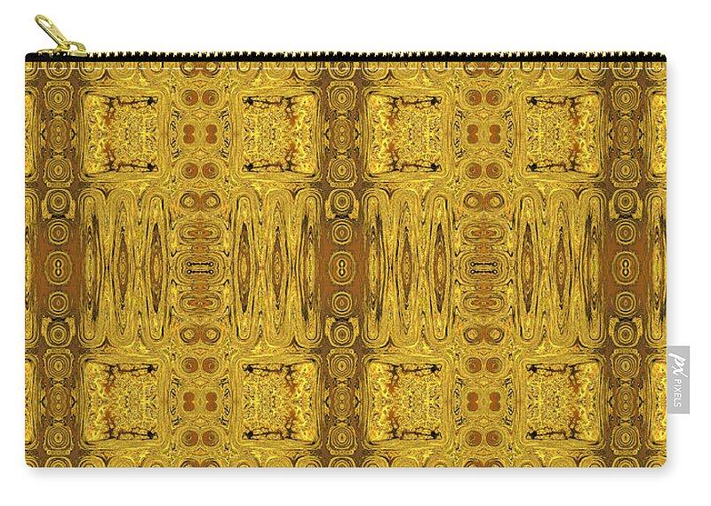 Doors Of Zanzibar Carry-all Pouch featuring the digital art Doors Zanzibar Saffron by Judi Suni Hall