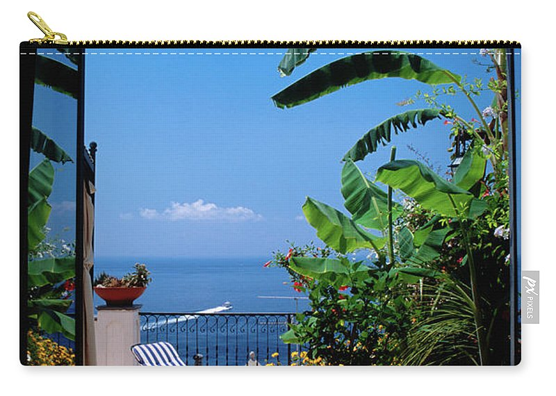 Tranquility Carry-all Pouch featuring the photograph Doorway To Terrace At Hotel Punta by Dallas Stribley