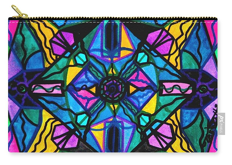 Dopamine Carry-all Pouch featuring the painting Dopamine by Teal Eye Print Store
