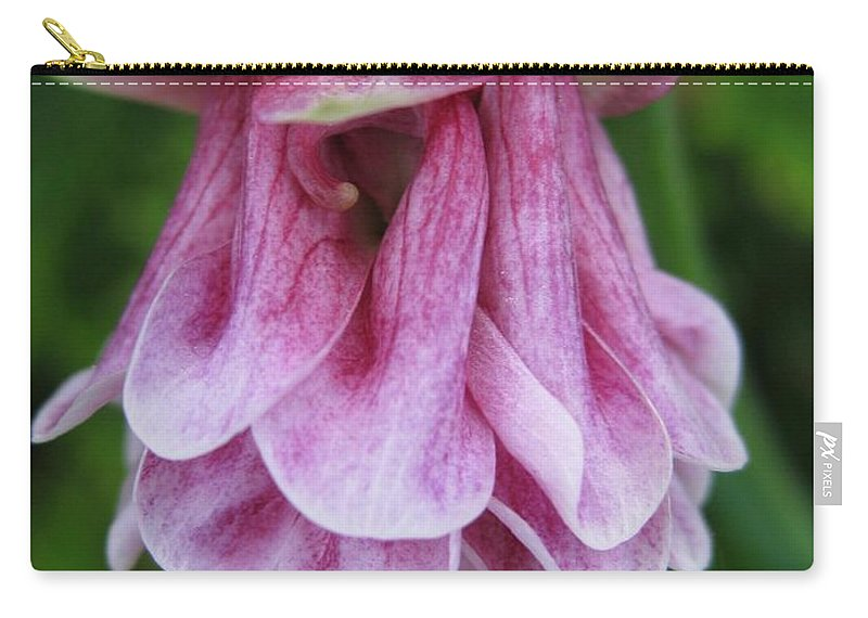 Mccombie Carry-all Pouch featuring the photograph Double Columbine Named Pink Tower by J McCombie