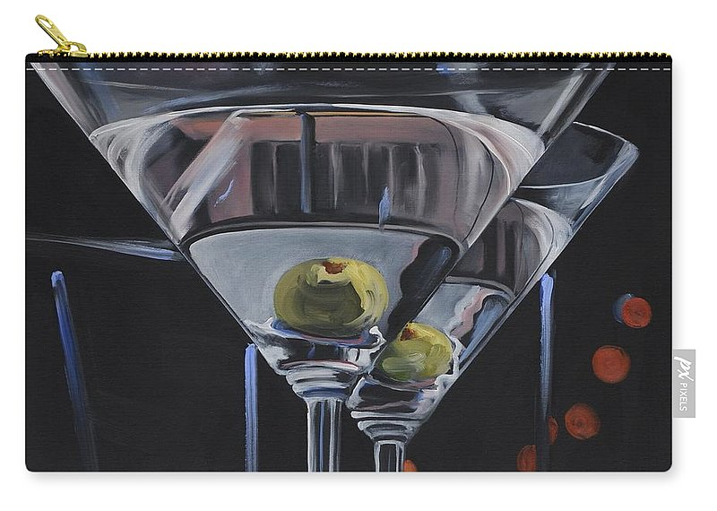 Olive Carry-all Pouch featuring the painting Double Delight by Donna Tuten