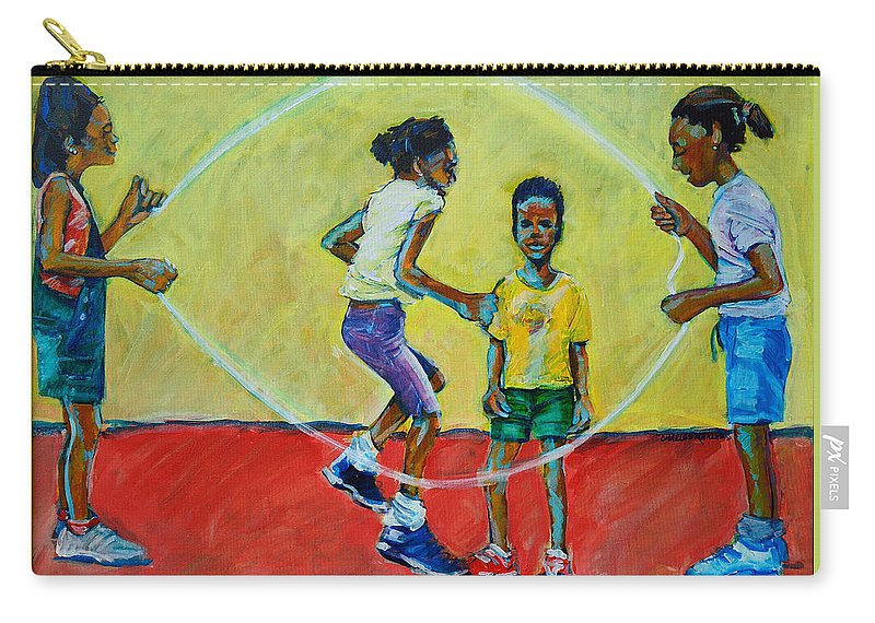 Play Carry-all Pouch featuring the painting Double Dutch by Charles M Williams