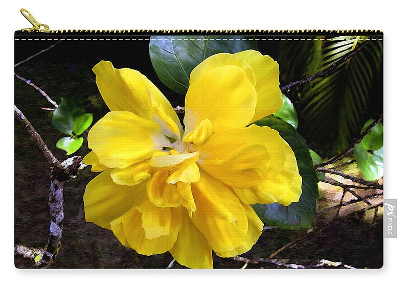 Flower Carry-all Pouch featuring the photograph Double Hibiscus Costa Rica by Kurt Van Wagner