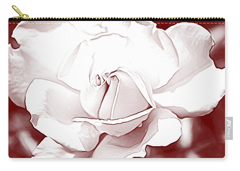 Rose Carry-all Pouch featuring the photograph Double Rose Sweet by Alice Gipson