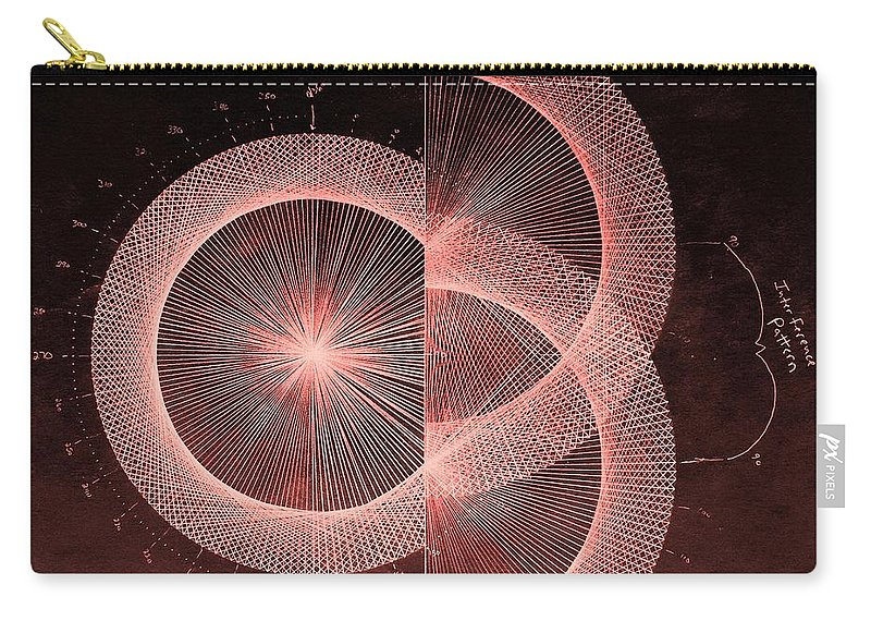 Jason Carry-all Pouch featuring the drawing Double Slit Test by Jason Padgett