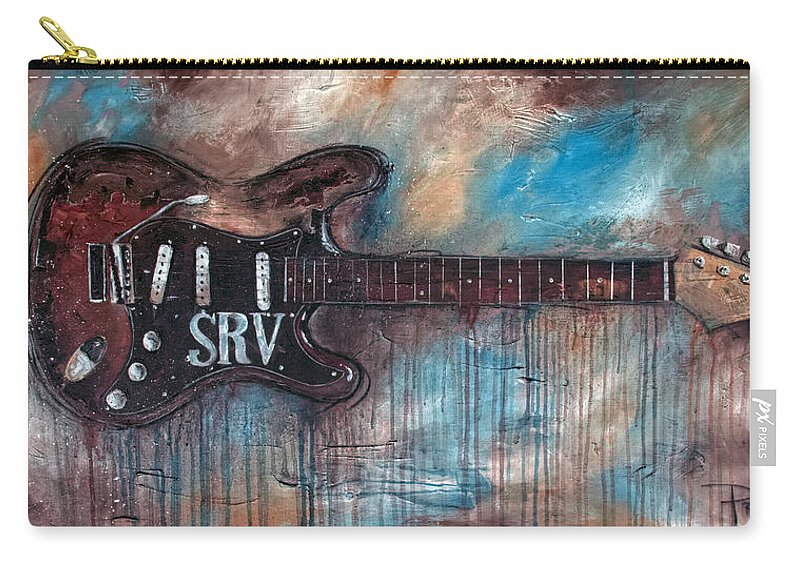 Stevie Ray Vaughan Carry-all Pouch featuring the painting Double Trouble by Sean Parnell