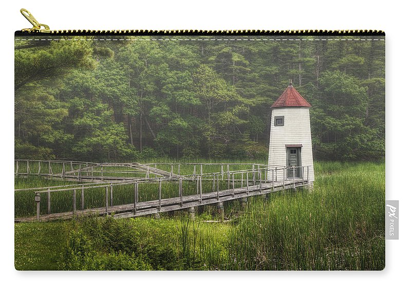 Lighthouse Carry-all Pouch featuring the photograph Doubling Point Range Lights by Joan Carroll