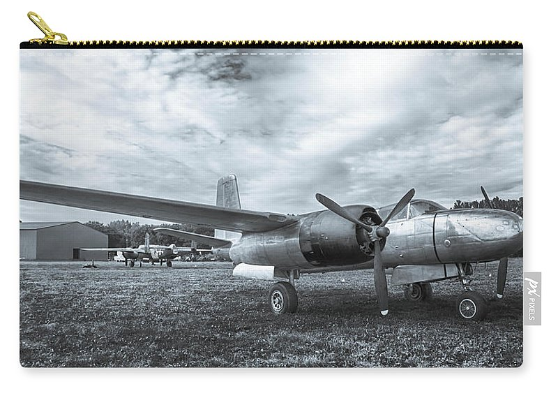 A-26 Carry-all Pouch featuring the photograph Douglas A-26 Invader 3770b by Guy Whiteley