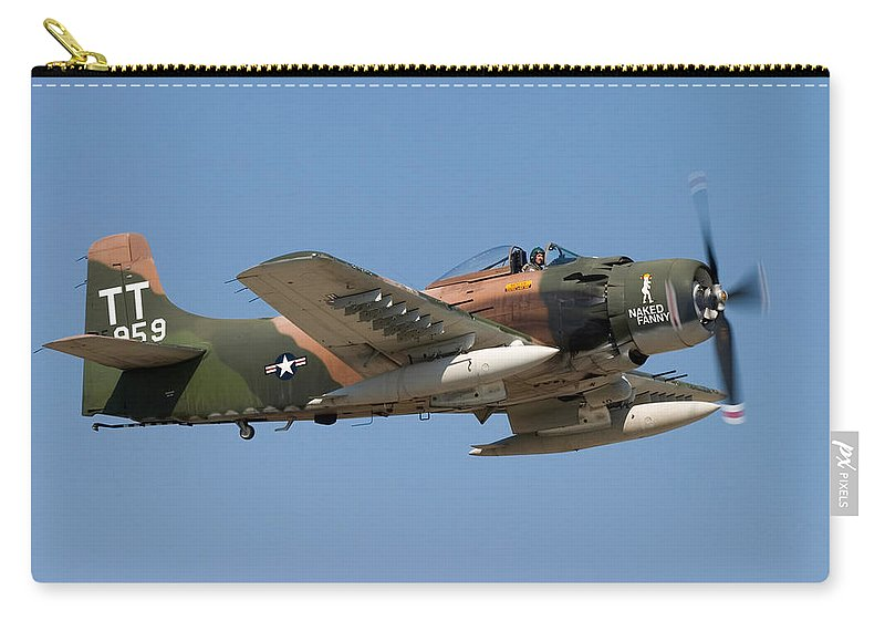 3scape Carry-all Pouch featuring the photograph Douglas Ad-4 Skyraider by Adam Romanowicz