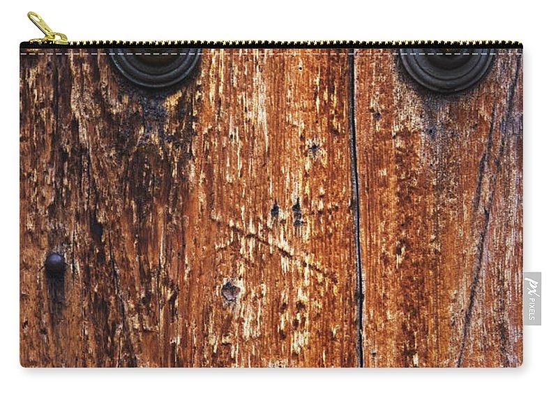 Door Carry-all Pouch featuring the photograph Dour Door Denizen by Guy Shultz