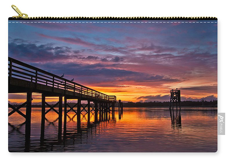 Coos Bay Carry-all Pouch featuring the photograph Down At The Dock by Patricia Davidson
