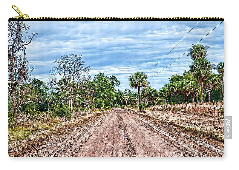 Dirt Road Carry-all Pouch featuring the photograph Down Chisolm Island Road by Scott Hansen