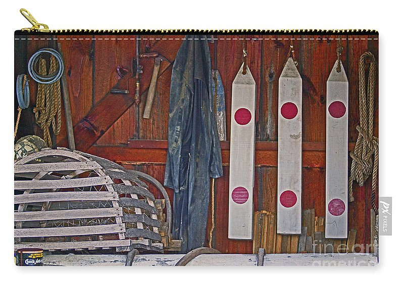 Lobster Carry-all Pouch featuring the photograph Down East Equipment by Joe Geraci