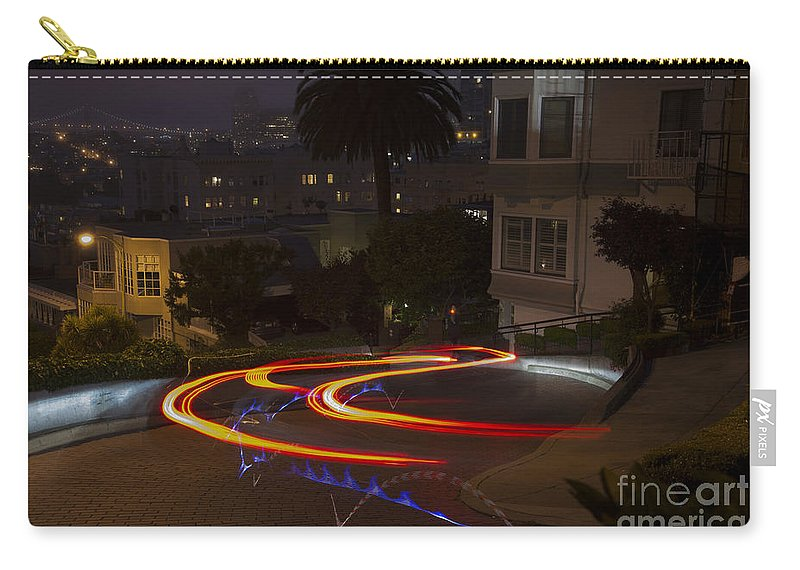 Lombard Carry-all Pouch featuring the photograph Down Lombard by David Bearden