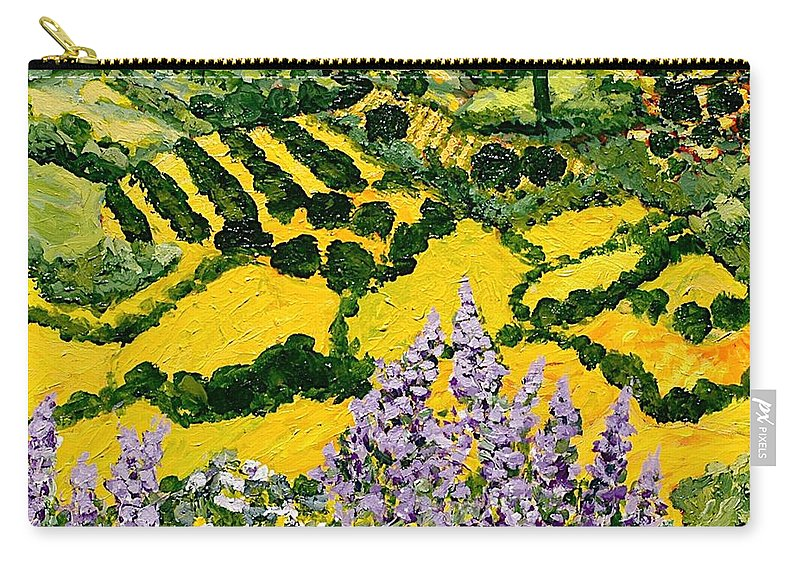 Landscape Carry-all Pouch featuring the painting Down The Hill by Allan P Friedlander
