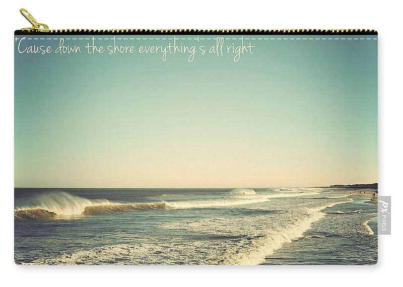 Terry Deluco Carry-all Pouch featuring the photograph Down The Shore Seaside Heights Vintage Quote by Terry DeLuco