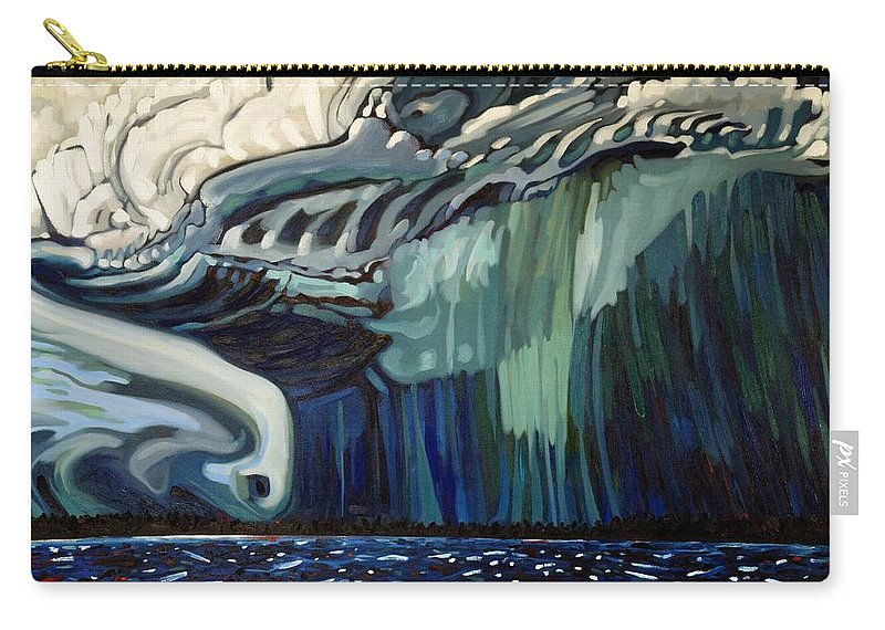 Severe Carry-all Pouch featuring the painting Downburst by Phil Chadwick