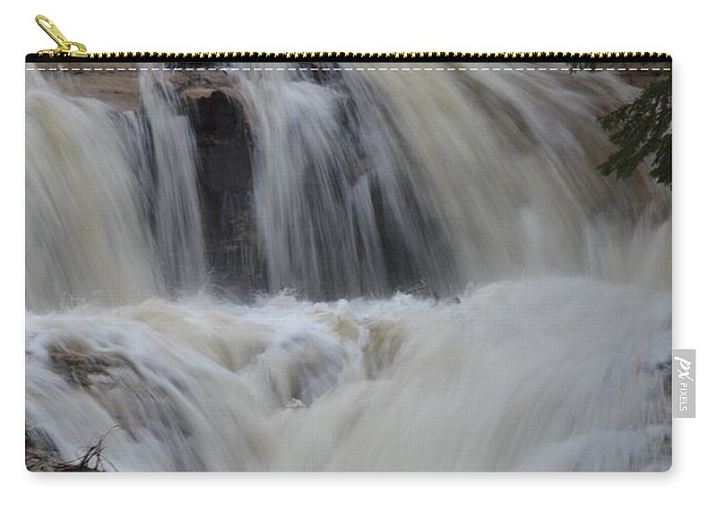 Sable Falls Carry-all Pouch featuring the photograph Downhill by Linda Kerkau