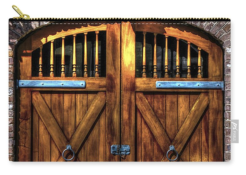 Charleston Carry-all Pouch featuring the photograph Downtown Charleston Sc Doors by Dale Powell