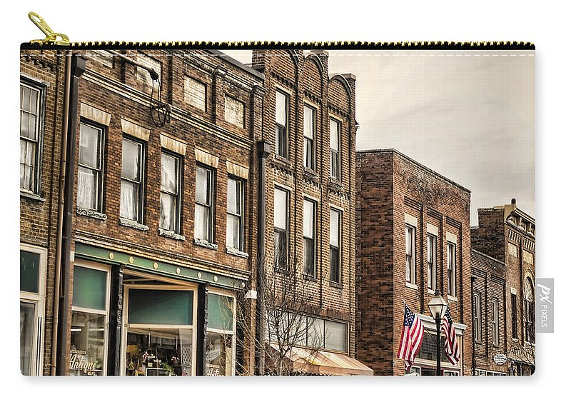 Jonesborough Carry-all Pouch featuring the photograph Downtown Jonesborough by Heather Applegate