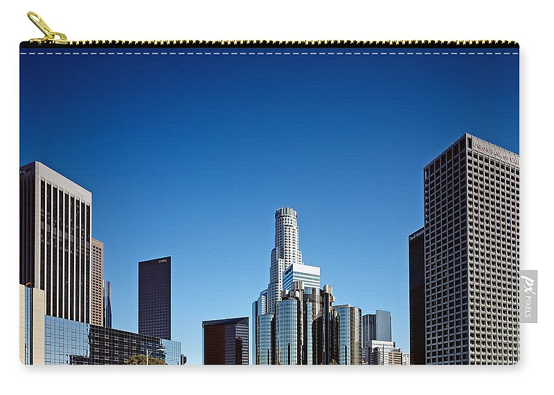 Los Angeles Carry-all Pouch featuring the photograph Downtown Los Angeles by Mountain Dreams