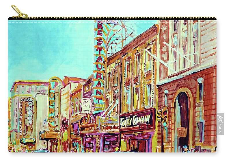 Montreal Carry-all Pouch featuring the painting Downtown Montreal by Carole Spandau