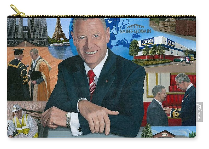 Peter Hindle Carry-all Pouch featuring the painting Dr Peter Hindle Mbe by Richard Harpum