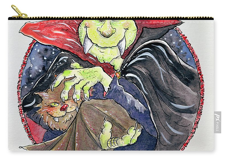Dracula Carry-all Pouch featuring the painting Dracula by Maylee Christie