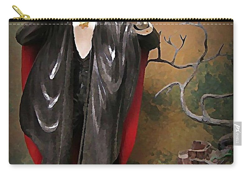Nightmares Carry-all Pouch featuring the painting Dracula Model Kit by John Malone