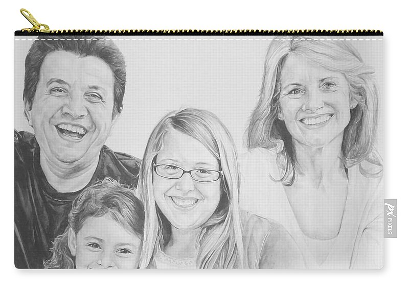 Family Carry-all Pouch featuring the painting Dragojlovic Family by Tamir Barkan