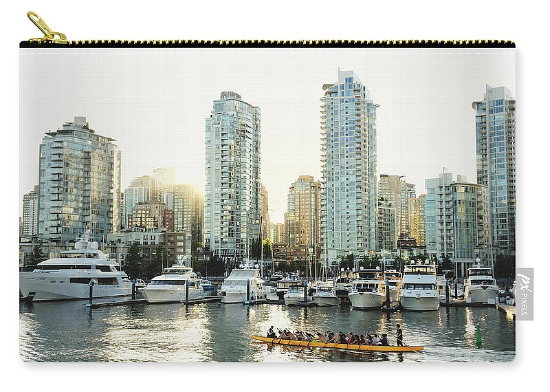 Tranquility Carry-all Pouch featuring the photograph Dragon Boating In Vancouver by Carlina Teteris