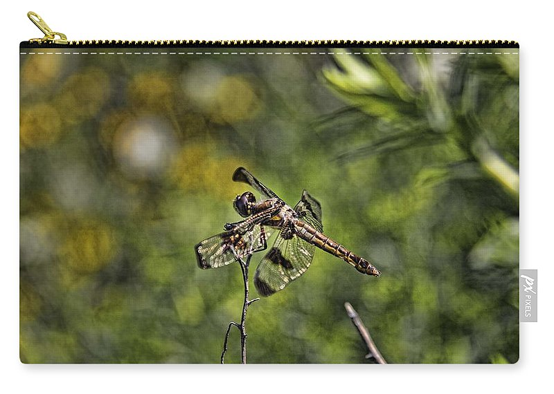 Dragonfly Carry-all Pouch featuring the photograph Dragonfly by Daniel Sheldon