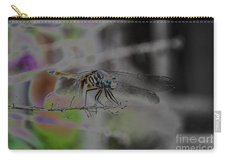 Insect Carry-all Pouch featuring the photograph Dragonfly by Donna Brown