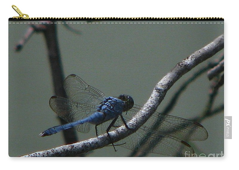Art For The Wall...patzer Photography Carry-all Pouch featuring the photograph Dragonfly by Greg Patzer