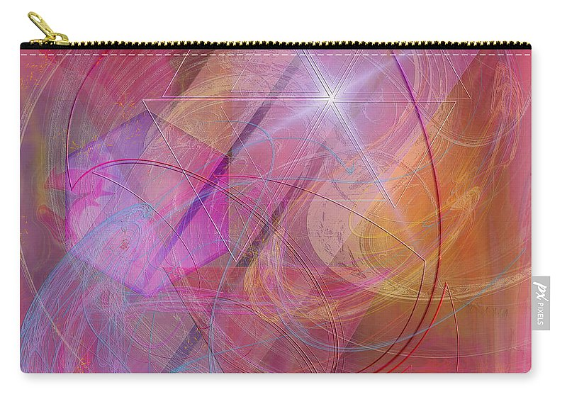 Dragon Carry-all Pouch featuring the digital art Dragon's Gem - Square Version by John Robert Beck
