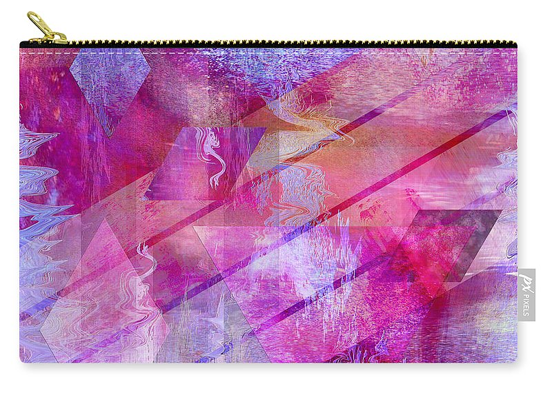 Dragon's Kiss Carry-all Pouch featuring the digital art Dragon's Kiss - Square Version by John Robert Beck