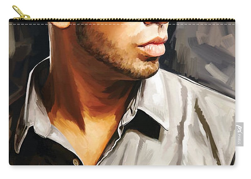 Drake Paintings Carry-all Pouch featuring the painting Drake Artwork 2 by Sheraz A