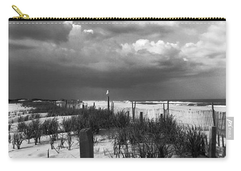 Nature Carry-all Pouch featuring the photograph Drama At The Dunes by Art Dingo