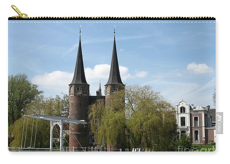 Drawbridge Carry-all Pouch featuring the photograph Drawbridge - Delft - Netherlands by Christiane Schulze Art And Photography