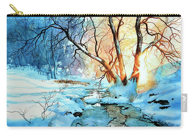 Winter Landscape Carry-all Pouch featuring the painting Drawn To The Sun by Hanne Lore Koehler