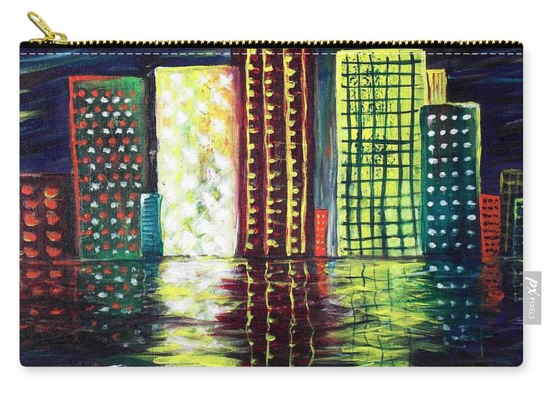 Skyline Carry-all Pouch featuring the painting Dream City by Anastasiya Malakhova