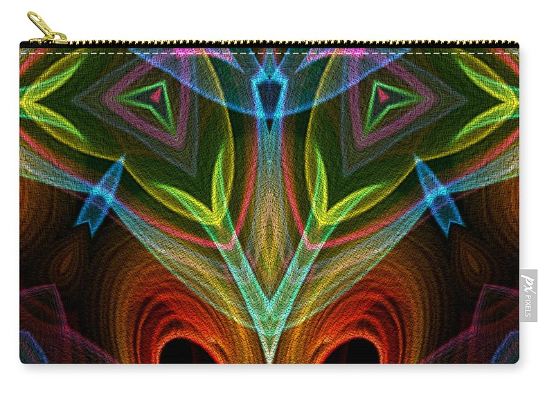 Series Echo Carry-all Pouch featuring the digital art I Dream Flowers by Owlspook
