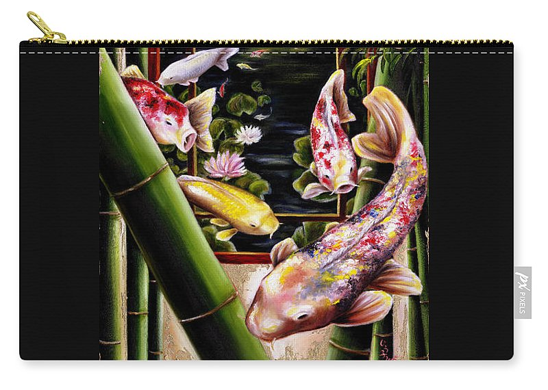 Japanese Carry-all Pouch featuring the painting Dream by Hiroko Sakai