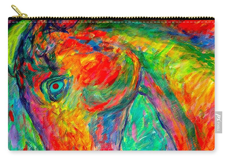 Horse Carry-all Pouch featuring the painting Dream Horse by Kendall Kessler