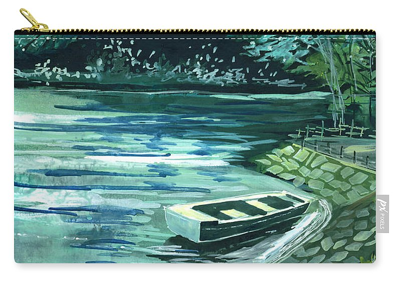 Lake Carry-all Pouch featuring the painting Dream Lake by Anil Nene