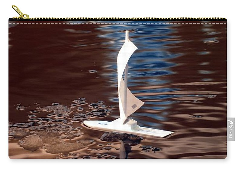 Boat Carry-all Pouch featuring the photograph Dream Of Sailing by Rebecca Parker