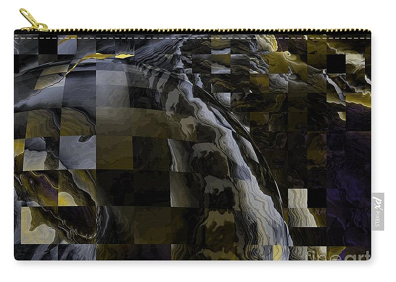 Dream Weaving Carry-all Pouch featuring the digital art Dream Weaving by Elizabeth McTaggart