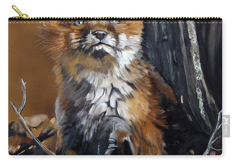 Southwest Art Carry-all Pouch featuring the painting Dreamer by J W Baker